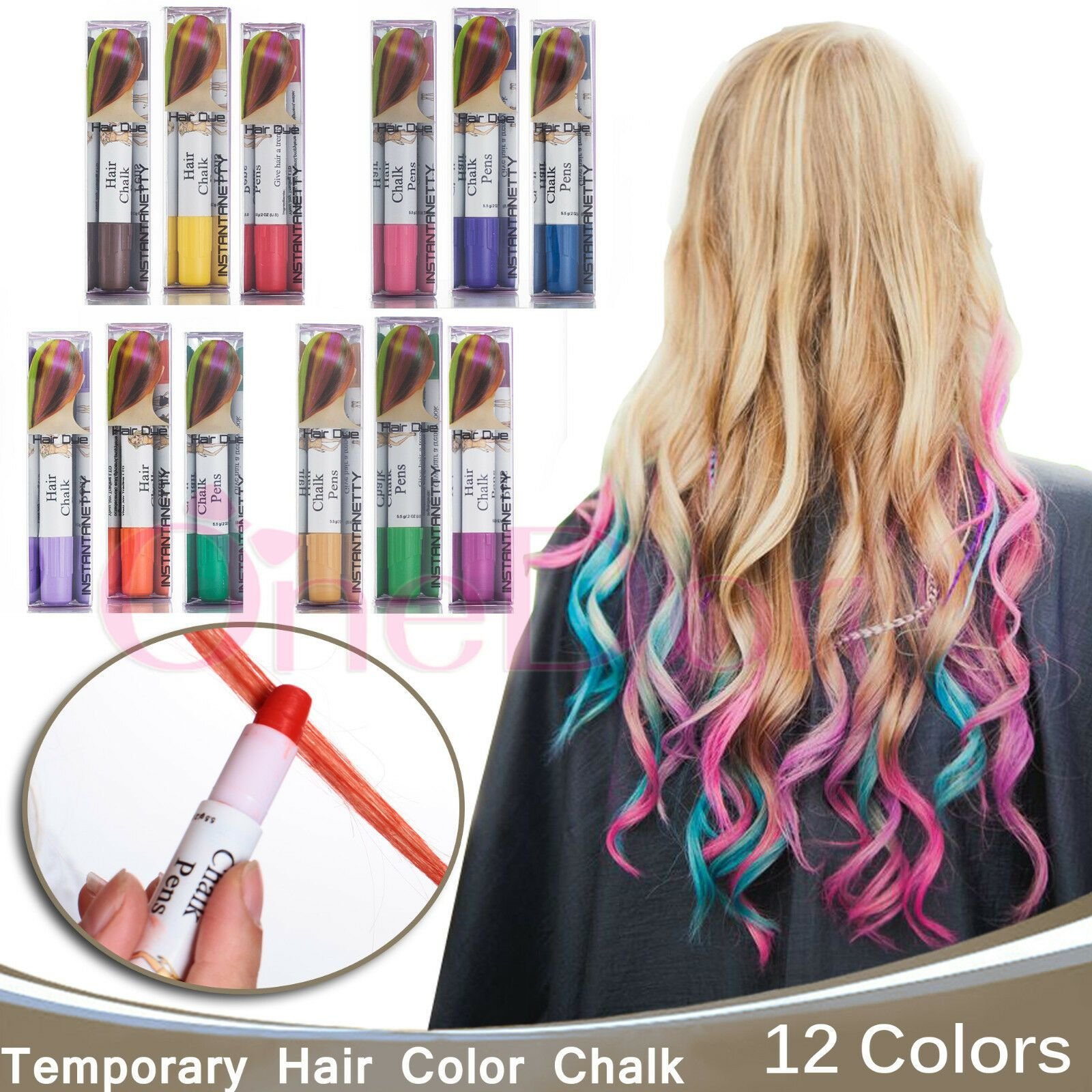 The Best Professional Temporary Hair Dye Hair Color Chalk Pens Pictures