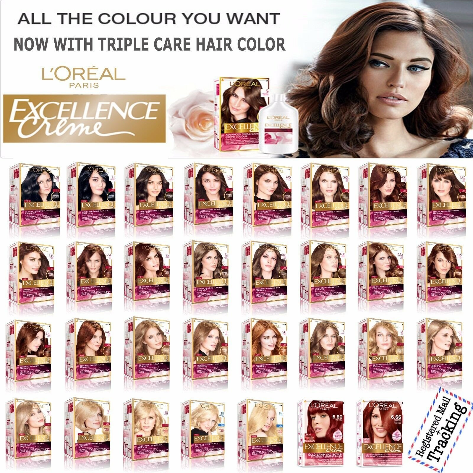 The Best L Oreal Paris Excellence Creme Triple Care Hair Color Pictures