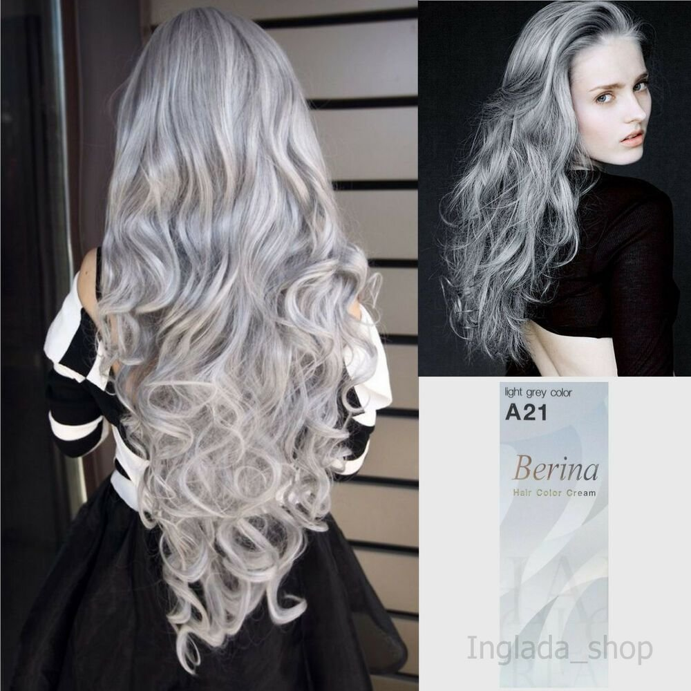 The Best Berina A21 Hair Color Cream With Light Gray Color Pictures