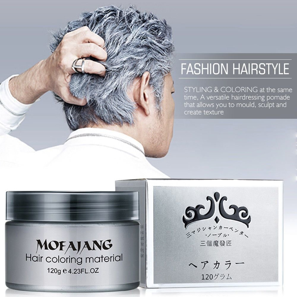 The Best Silver Ash Hair Color Wax 120Ml Temporary Gray Hair Wax Easy Grey Us Shipping Ebay Pictures
