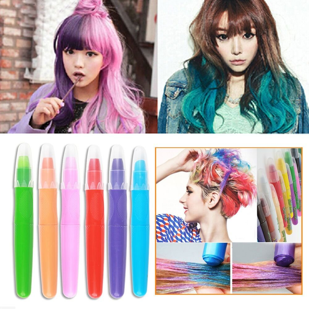 The Best 1Pc Temporary Hair Cream Dye Color Hair Chalk Crayon Pen Pictures