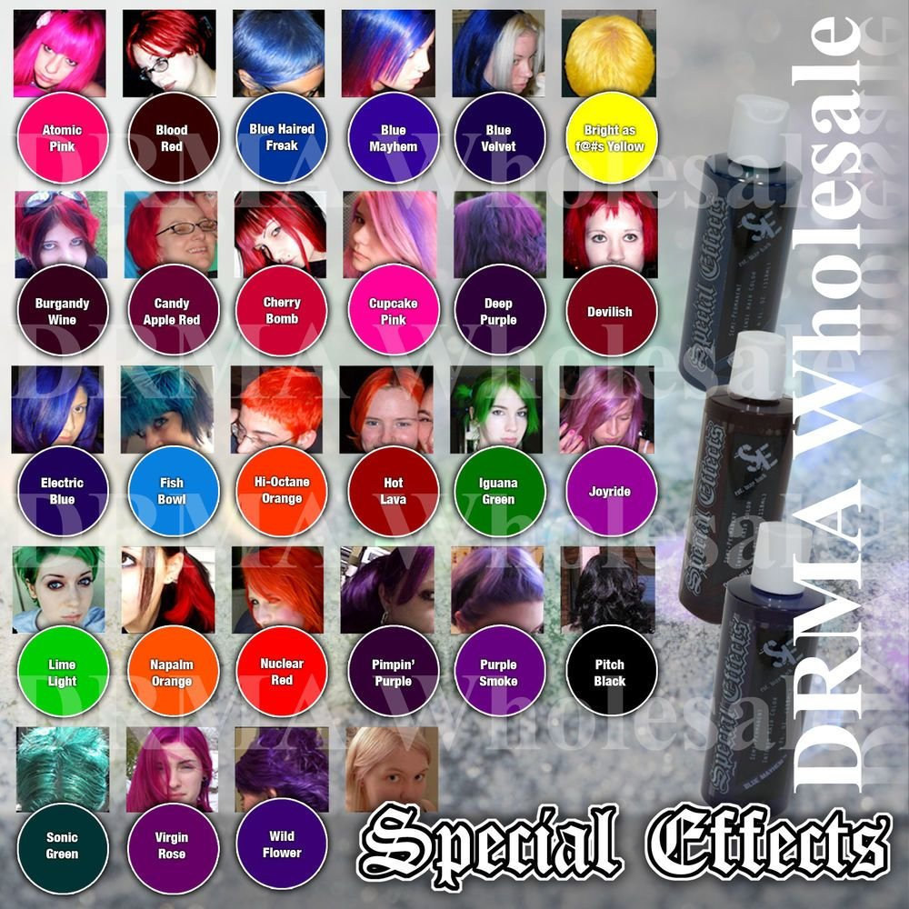 The Best 4 Pack Special Effects Semi Permanent Vegan Hair Dye Same Color Punk Rock Ebay Pictures