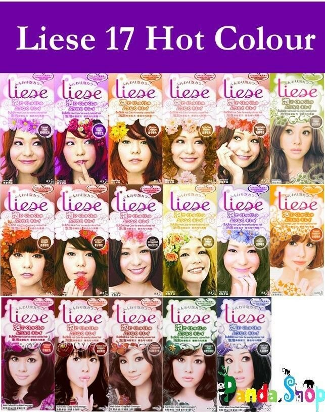 The Best New Foam Japan Liese Kao Bubble Hair Color Dye Kit Set Easy Smoother 17 Type Ebay Pictures