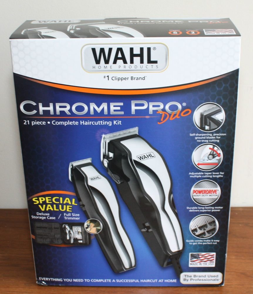 The Best New Haircutting Kit Wahl Pro Duo Deluxe Nylon Case Made In Pictures