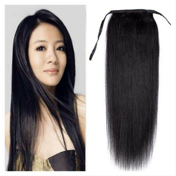 The Best 16 24 Real Indian Remy Human Hair Ponytail Clip In Hair Pictures