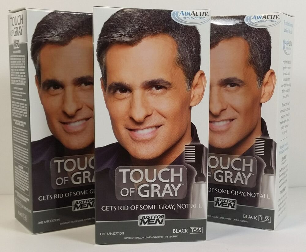 The Best Just For Men Touch Of Gray Hair Color Kit 3Lot Ebay Pictures