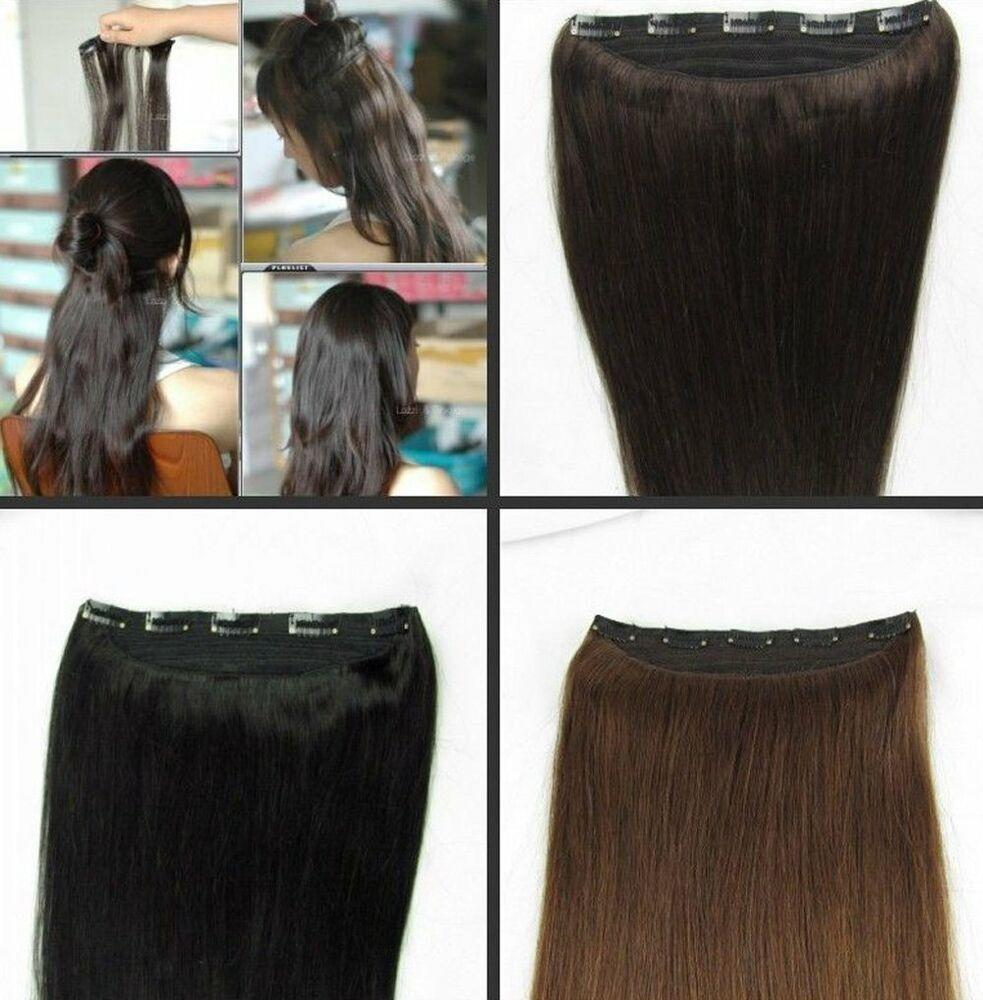 The Best One Piece Remy Hair Extension Clip In 100 Human Hair Full Head Highlights Cheap Ebay Pictures