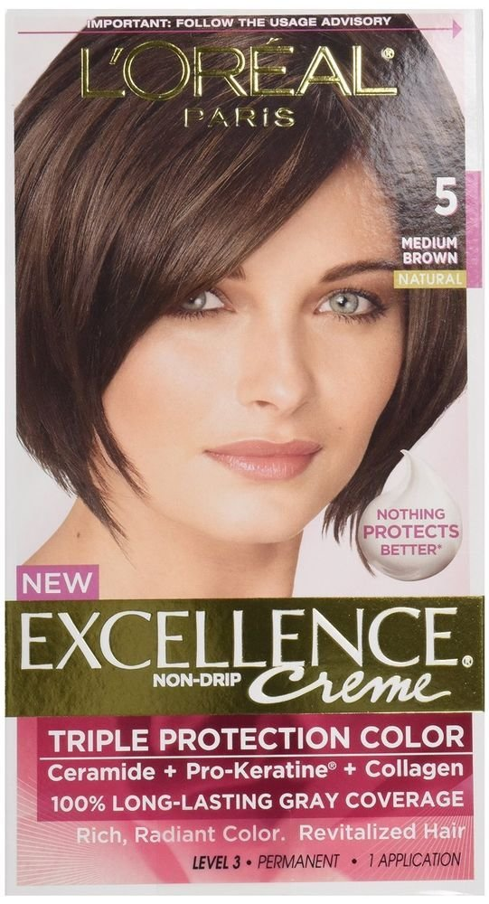The Best L Oreal Excellence 5 Medium Brown Hair Color Pack Of 12 Ebay Pictures