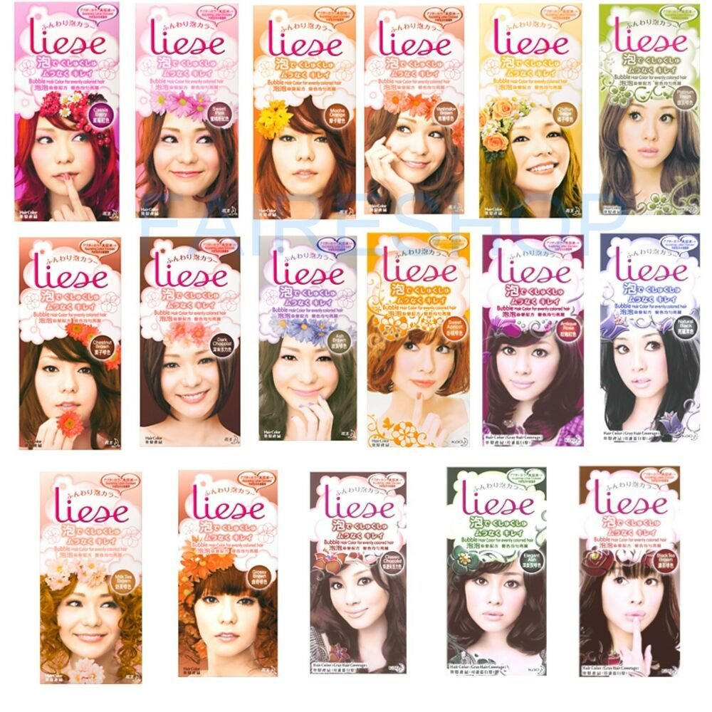 The Best Kao Liese Bubble Hair Color Evenly Coloured Brown Black Pictures