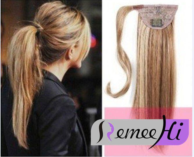 """The Best 15 22"""" Straight Wrap Ponytail 100 Real Remy Human Hair Pictures"""