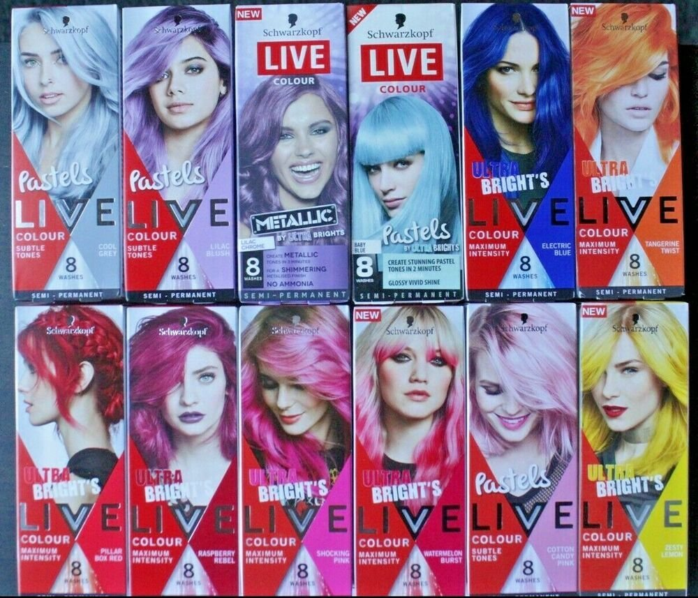 The Best Schwarzkopf Live Colour Ultra Brights Temporary Hair Dye Pictures