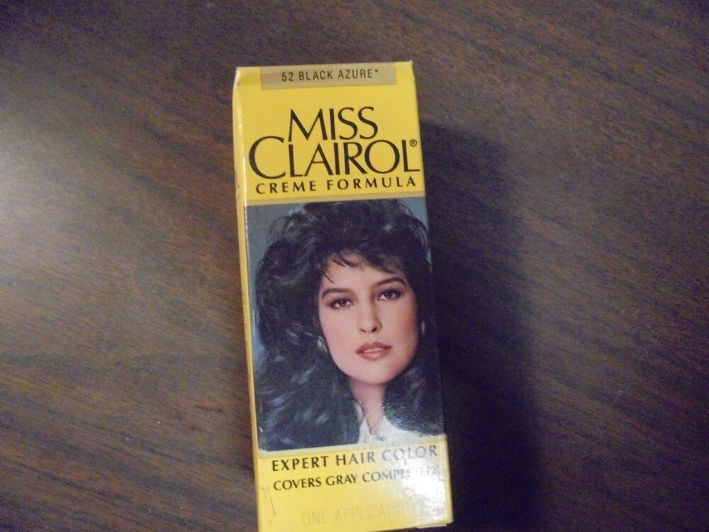 The Best Vintage Miss Clairol Hair Color Bath With Collagen Enriched 52 Black Azure Ebay Pictures