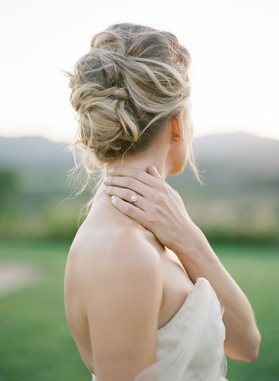 The Best Picture Of Soft Messy Updo For A Modern Bride Pictures