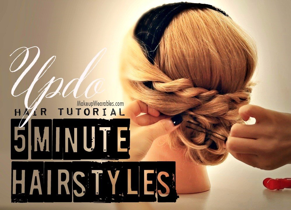 The Best 5 Minute Hairstyles Cute Easy Low Bun Updo Hair Pictures