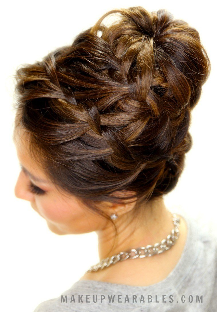 The Best Cute Braided Bun Hair Tutorial Updo Hairstyles For Short Pictures