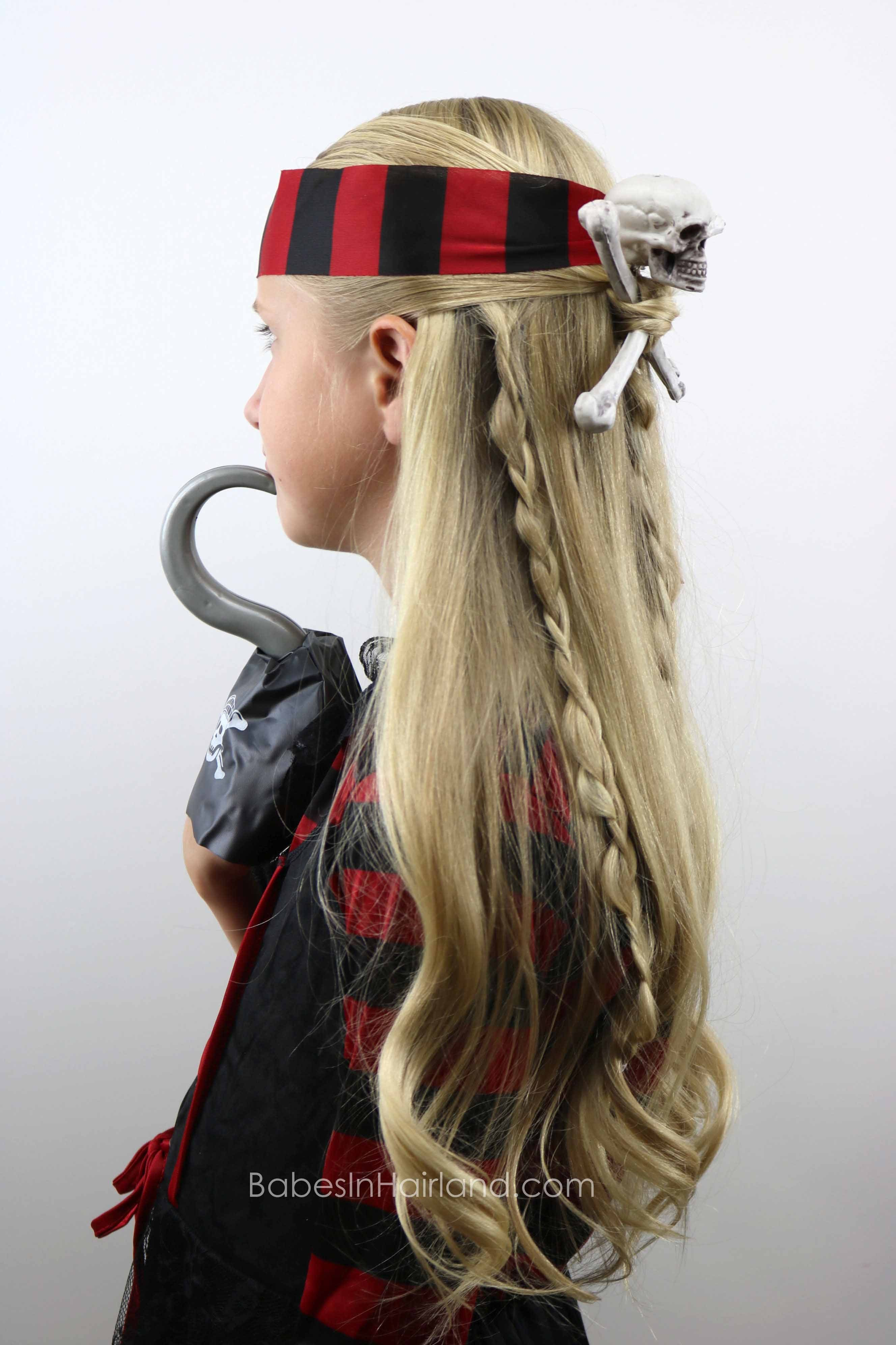 The Best Skull Crossbones Pirate Hair Halloween Hairstyle Pictures
