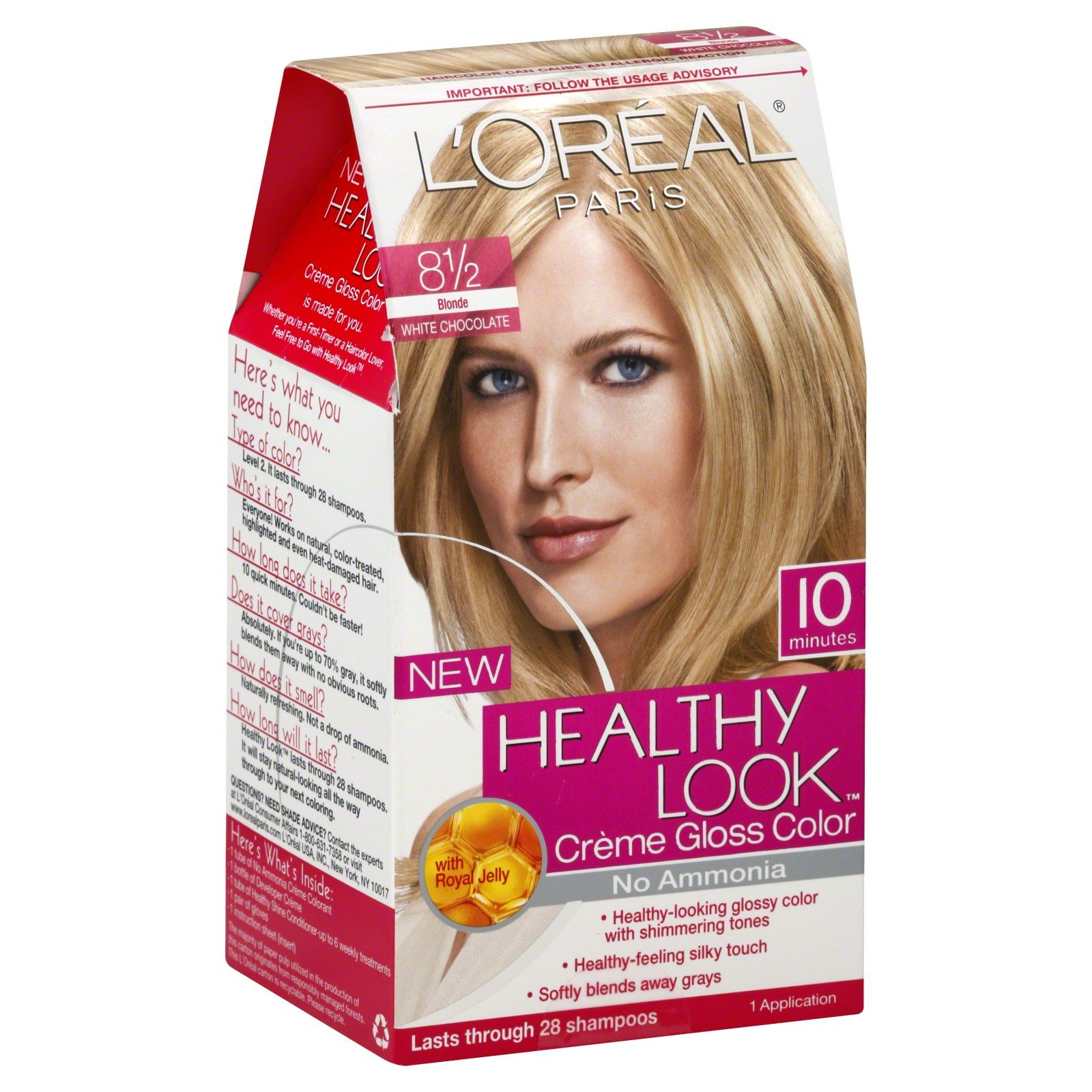 The Best L Oreal Healthy Look Creme Gloss Color Blonde 8 1 2 1 Pictures