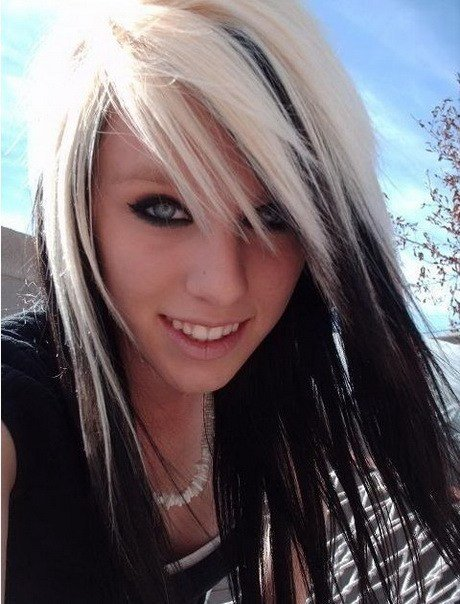 The Best Blonde With Black Underneath Hairstyles Pictures