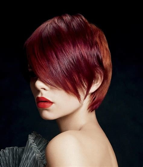 The Best A Short Red Hairstyle From The Origami Collection By Paul Pictures