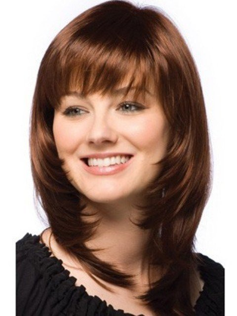 The Best 2014 Trendy Medium Length Hairstyles For Round Faces – Pictures Tips Circletrest Pictures