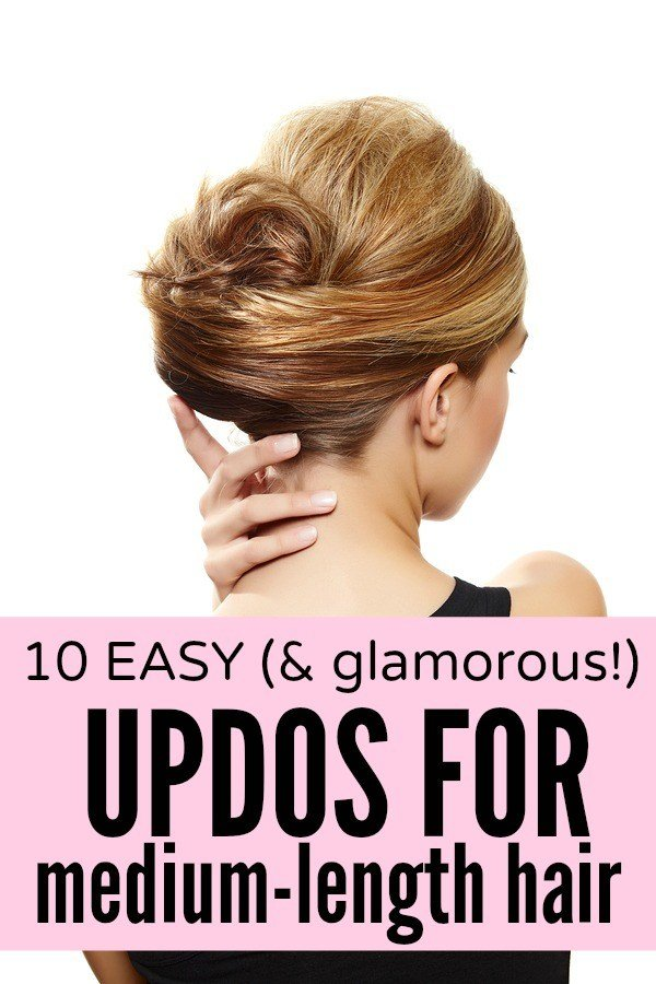 The Best 10 Easy Glamorous Updos For Medium Length Hair Pictures