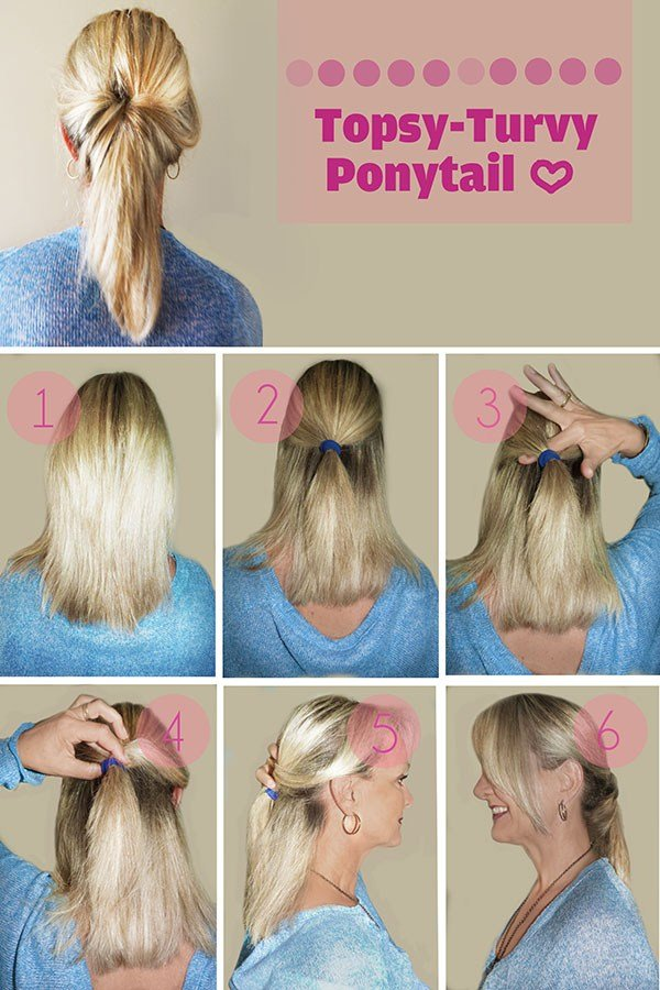 The Best Hairstyle Tutorial Topsy Turvy Ponytail Hair Romance Pictures