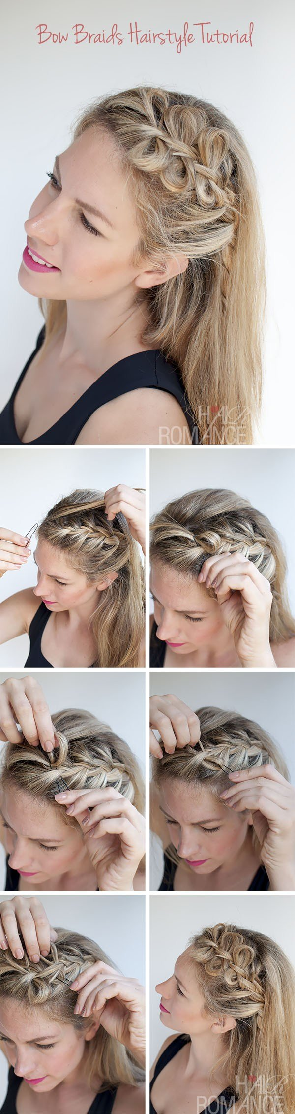 The Best Bow Braids Hairstyle Tutorial Hair Romance Pictures