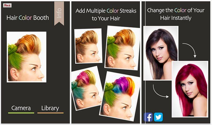 The Best 3 Fun Apps To Experiment With Your Hair Colour Hair Romance Pictures