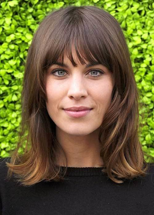 The Best 20 Best Medium Hair Cuts With Bangs Hairstyles Pictures