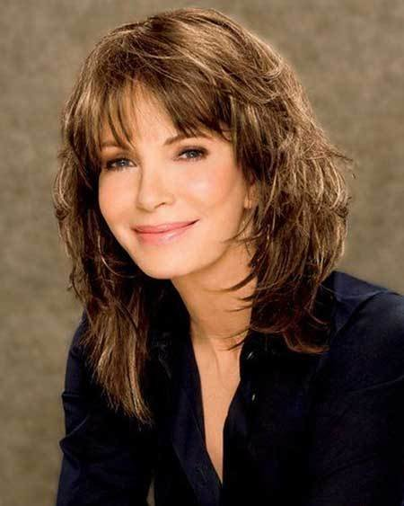 The Best 21 Medium Length Layered Haircuts With Bangs Hairstyles Pictures