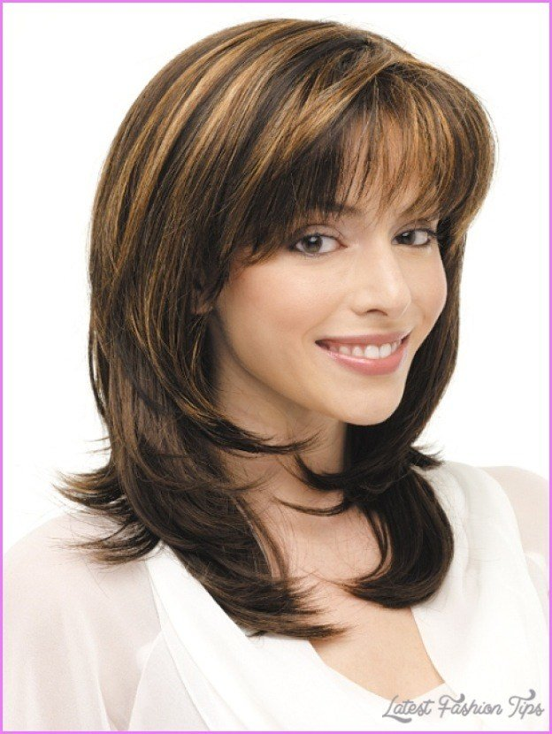 The Best Medium Length Haircuts No Bangs Layers Latestfashiontips Pictures
