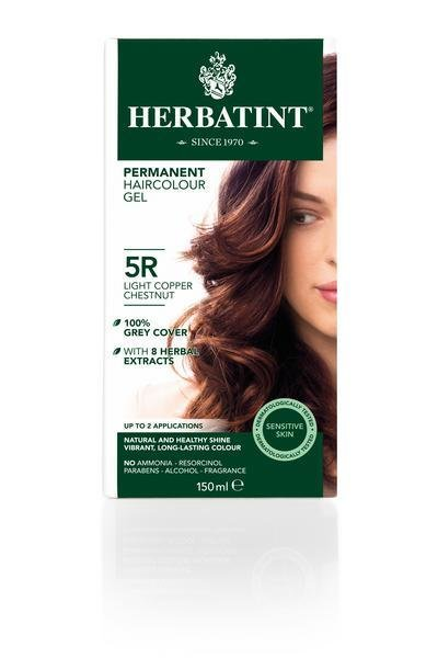The Best Light Copper Chestnut Hair Dye 5R In 150Ml From Herbatint Pictures