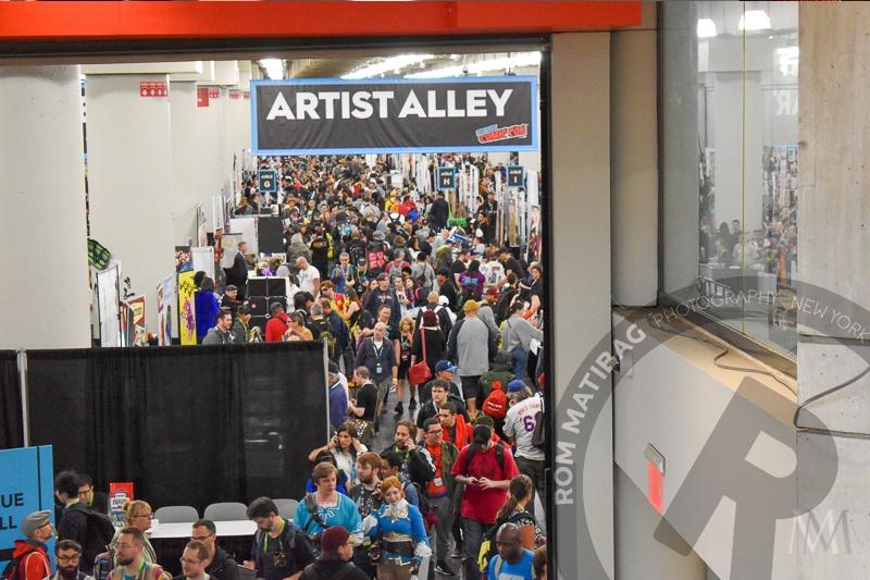 crowds at artist alley