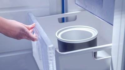 Eismaschine Behaelter einfrosten teil des Beitrags: Melonen-Feta Eis und Meloneneis mit Joghurt & Minze