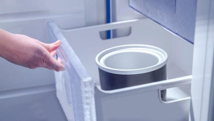 Eismaschine Behaelter einfrosten