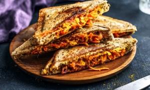 kichererbsen-karotten-sandwich - sandwichmaker rommelsbacher