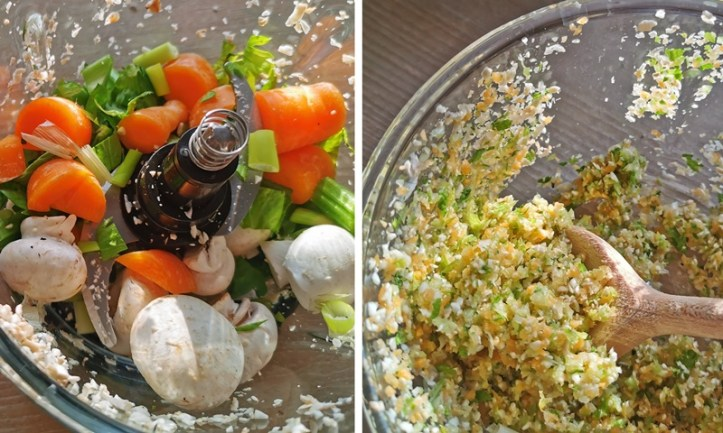 Gemüse im Rommelsbacher Multizerkleinerer - vorher und nachher