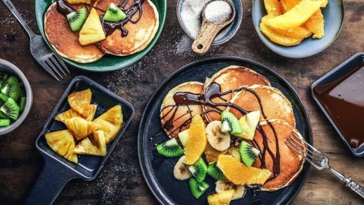 Pancake-Obst Raclette mit dem Testsieger - RC 1600 Raclette von Rommelsbacher