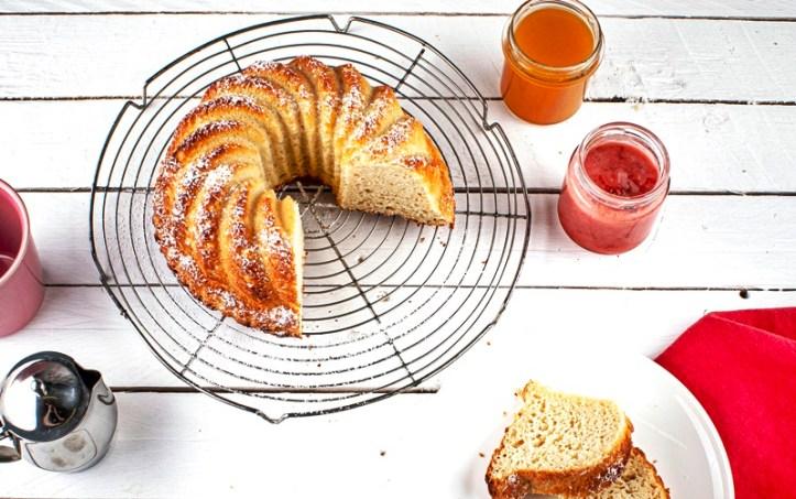Hefekuchen aus dem Brotbackautomaten BA 550 Rommelsbacher