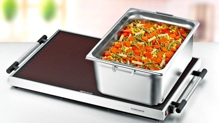 elektrische Warmhalteplatte mit Temperaturregelung - passend für Gastronormbehaelter - Rommelsbacher Modell WPR 405/E