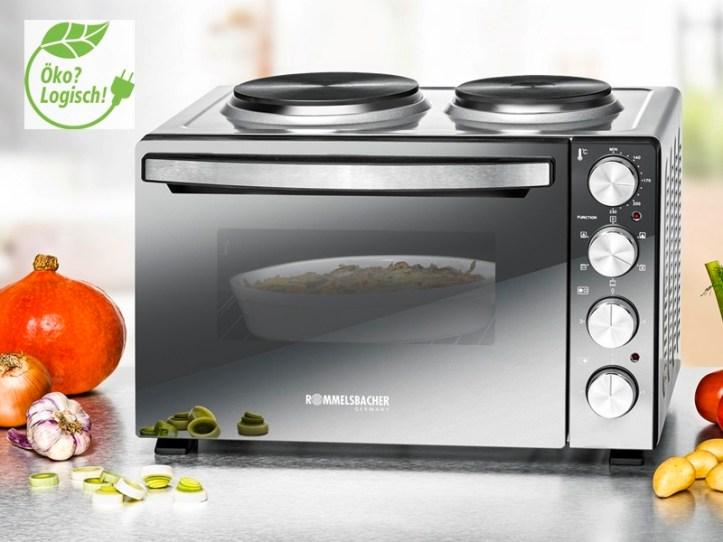 Kleinküche - Miniküche von Rommelsbacher - Backofen mit Heizplatten KM 3300