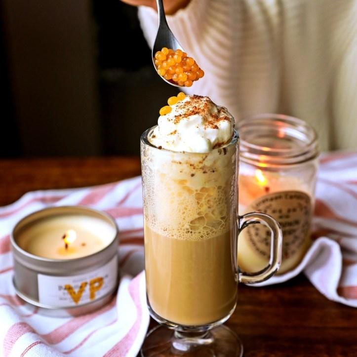 Pumpkin Spice Latte mit Pumpkin Spice Perlen aus dem Perlino Food Designer FD 500 von Rommelsbacher