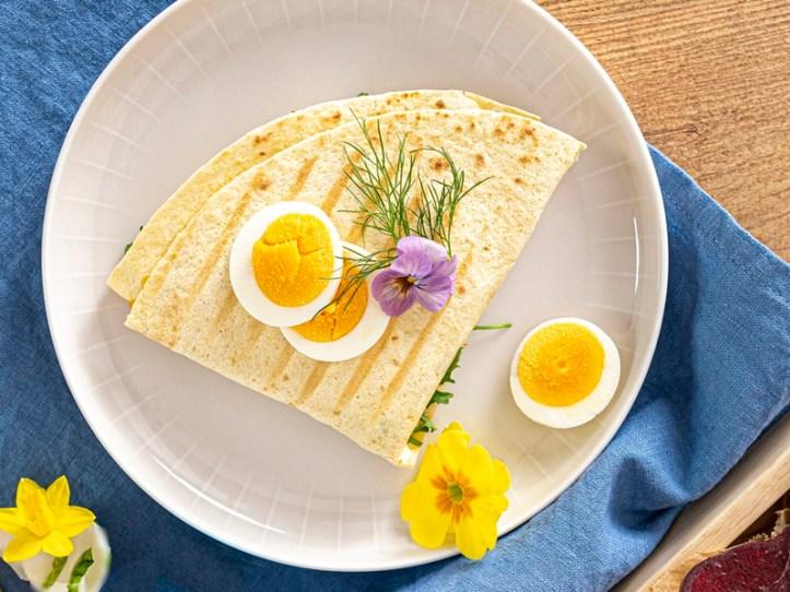 Tortilla Wrap mit Ei - geklappt und gegrillt (Der Wrap-Hack)