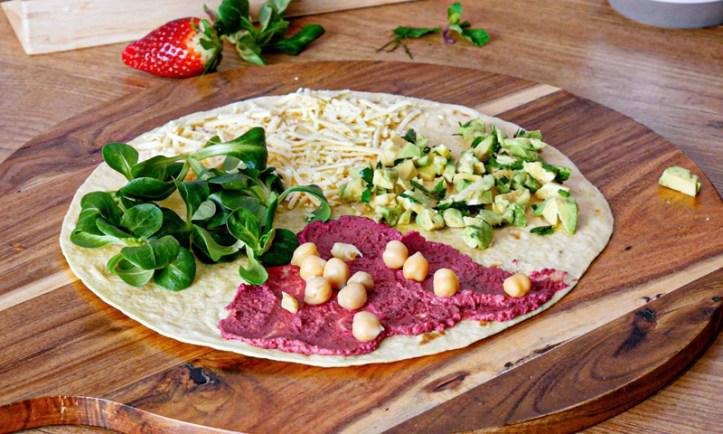 veganer Wrap - Rezept-Bild aus: 5 x gegrillte Tortilla Wraps (Der Wrap-Hack)