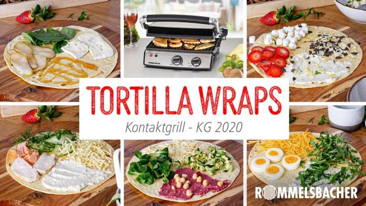 Fünf Rezeptideen für gegrillte Tortilla Wraps (Der Wrap-Hack) aus dem Kontaktgrill