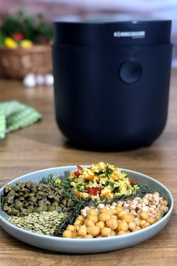 Hülsenfrüchte im Reiskocher zubereiten - Multireiskocher MRK 500 Risa von Rommelsbacher
