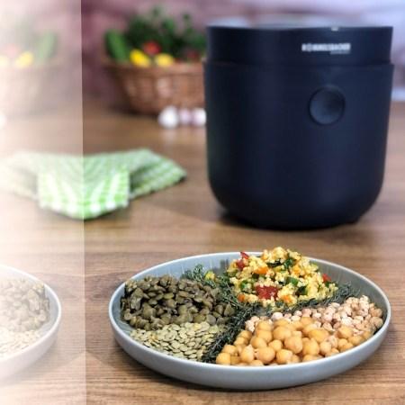 Hülsenfrüchte im Reiskocher zubereiten