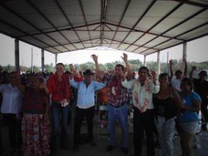 HABITANTES DE RINCON VIEJO RESPALDAN LA CAMPAÃ'A DE YARITH TANNOS