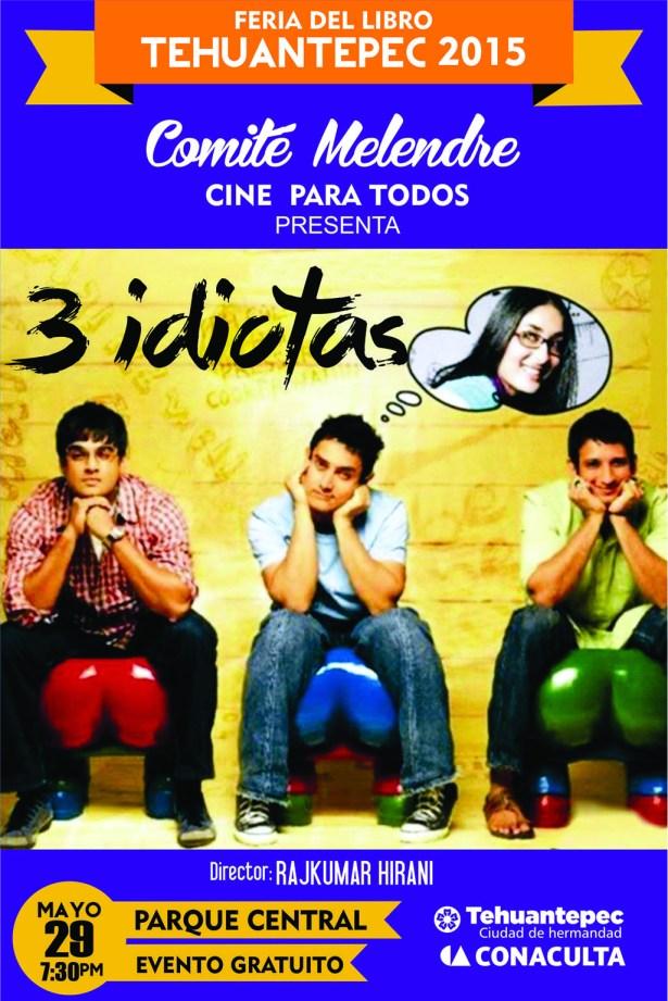29 Mayo flyer CINE TRES IDIOTAS