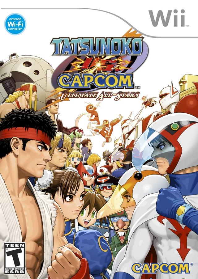 Tatsunoko Vs. Capcom- Ultimate All-Stars (USA) Game Cover